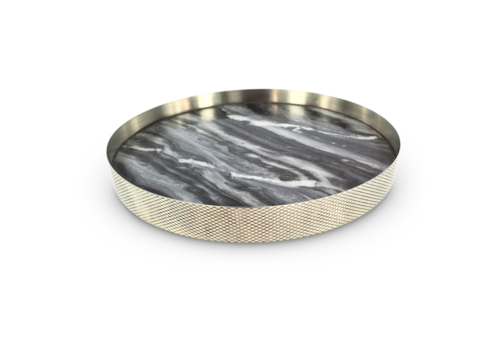 Mr. Pinchy & Co Tray 'Orbit' smoked marble - Large