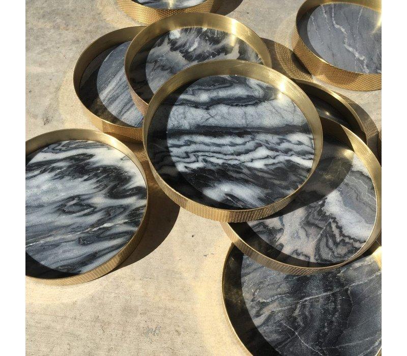 Tray 'Orbit' smoked Marble - Large