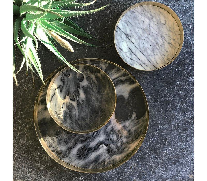 Tablett 'Orbit' geräucherter Marmor - groß