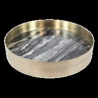 Tablett 'Orbit' geräucherter Marmor - klein
