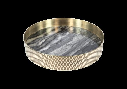Mr. Pinchy & Co Tablett 'Orbit' geräucherter Marmor - Klein
