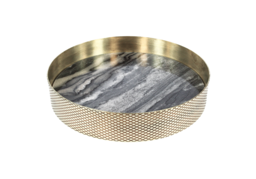Mr. Pinchy & Co Tray 'Orbit' smoked marble - Small