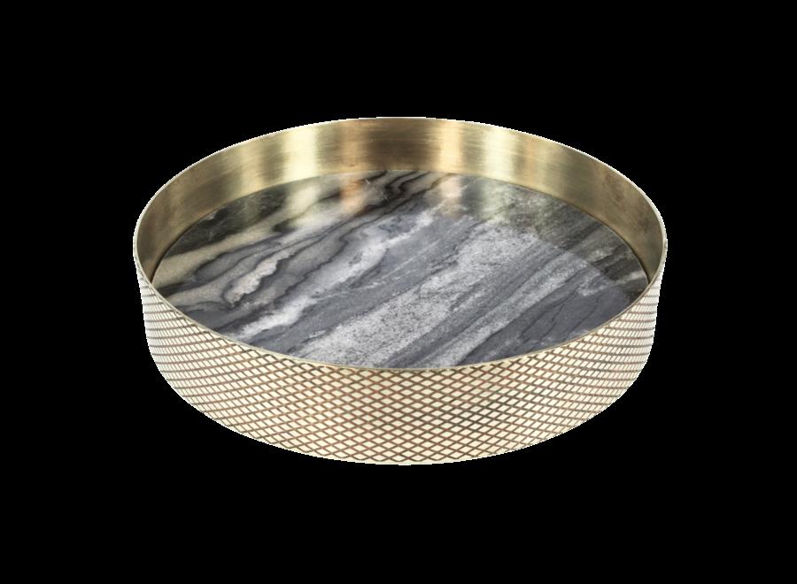 Dienblad 'Orbit' geroookt Marmer - Small