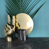Brass hand 'Peace Man'