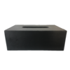 Dome Deco Gewebebox rechteckig aus schwarzem Leder