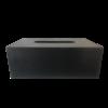 Dome Deco Tissue box rechthoekig in zwart leer