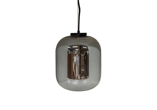 Dome Deco Hanging Lamp Bulb black - S
