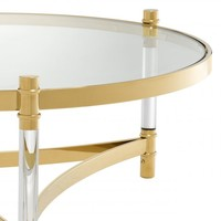 Coffee table 'Trento' - Gold