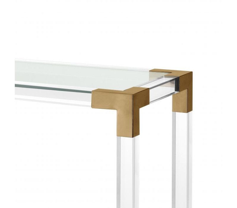 Console table 'Royalton' - Bronze