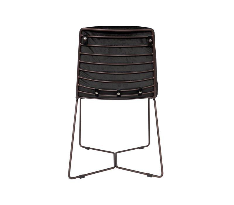 Dining chair 'Line' Anthracite MIRAGLIO