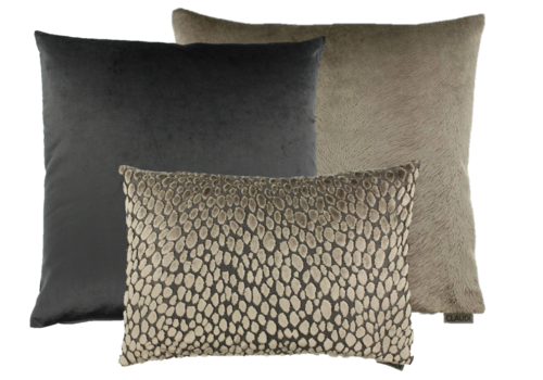 CLAUDI Cushion combination Brown/Dark Taupe: Perla, Speranza & Bandi