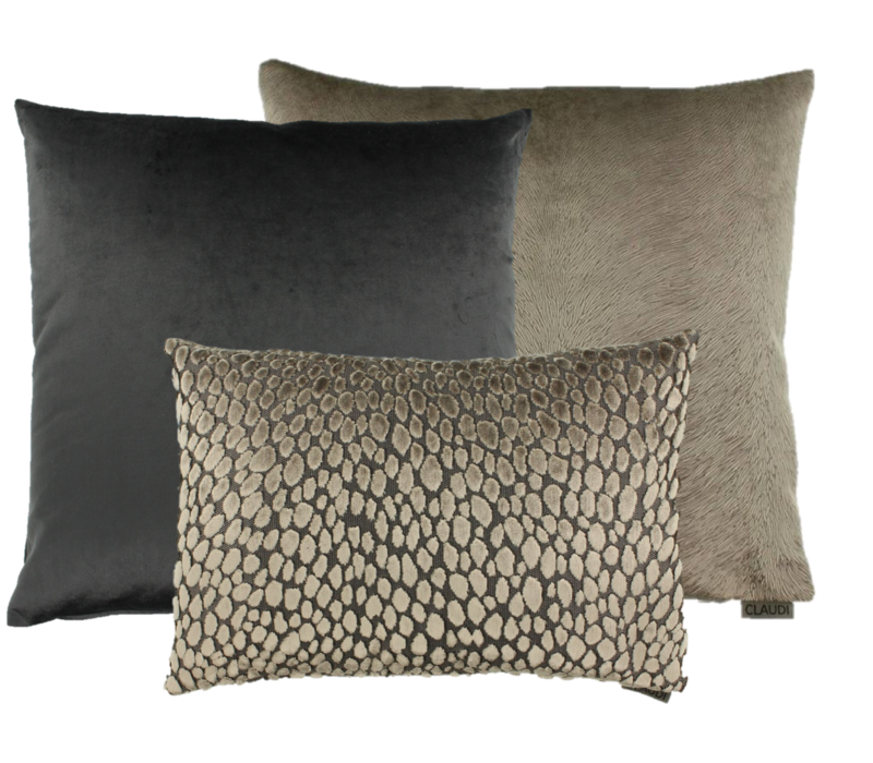 Cushion combination Brown/Dark Taupe: Perla, Speranza & Bandi