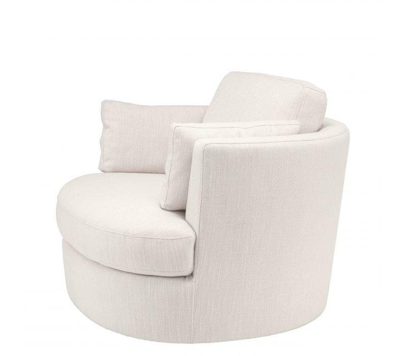 Swivel armchair 'Clarissa' - Avalon white