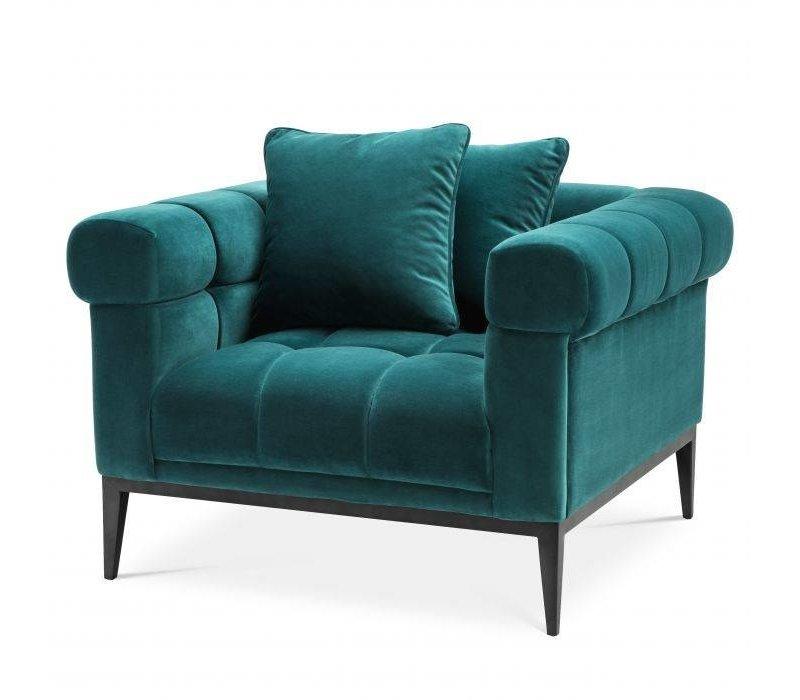 Armchair 'Aurelio' - Savona sea green