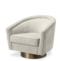 Swivel armchair 'Catene' - Clarck sand