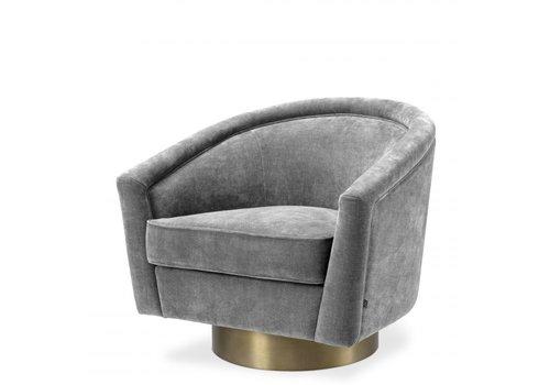EICHHOLTZ Swivel armchair Catene - Clarck grey
