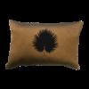 Leïlah Throw pillow Kava Black Fan Palm