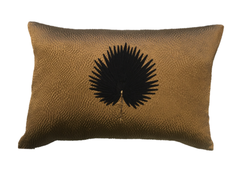 Leïlah Cushion Kava Black Fan Palm