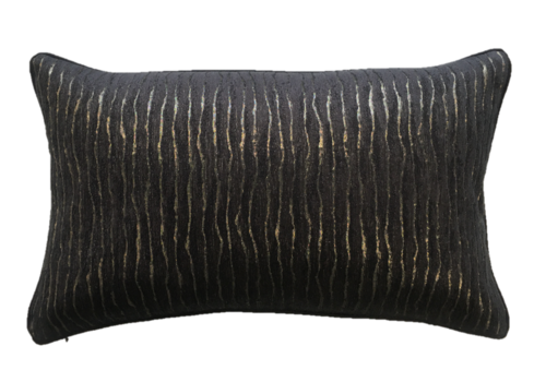 Leïlah Cushion Kenya Black / Gold