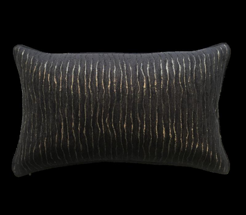 Throw pillow Kenya Black / Gold