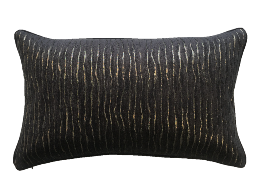 Kissen Kenia Schwarz / Gold