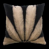Throw pillow Palmyra Black / Beige
