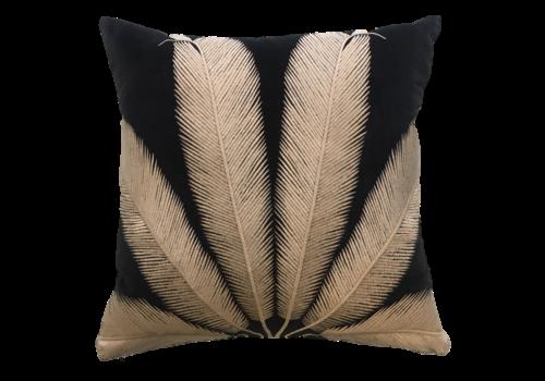 Leïlah Cushion Palmyra Black / Beige