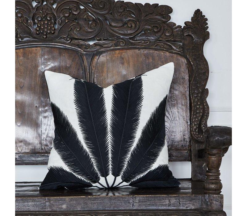 Throw pillow Palmyra White / Black
