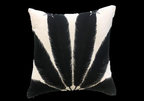 Leïlah Cushion Palmyra White / Black