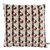CLAUDI Throw pillow Pippa Brique / Denim