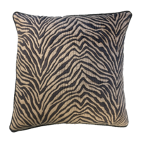 Kissen Zebra Schwarz / Beige