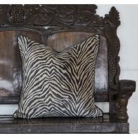 Throw pillow Zebra Black / Beige