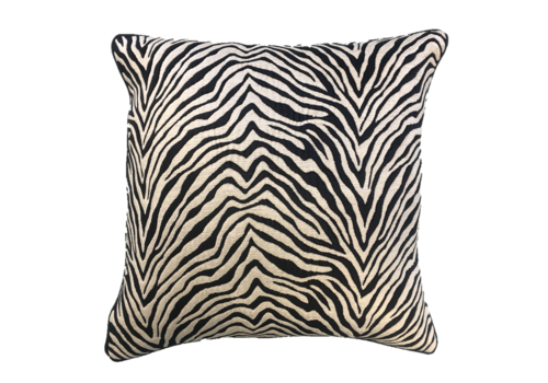 Leïlah Cushion Zebra Black / Off White