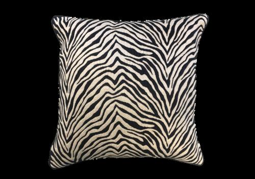 Leïlah Kissen Zebra Schwarz / Off White