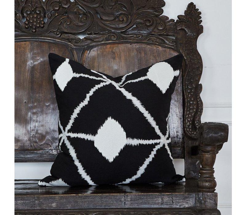 Throw pillow Bedouin Black / White