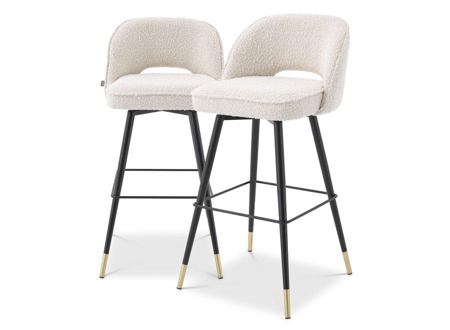 Bar stoel Cliff set van 2 - Bouclé cream
