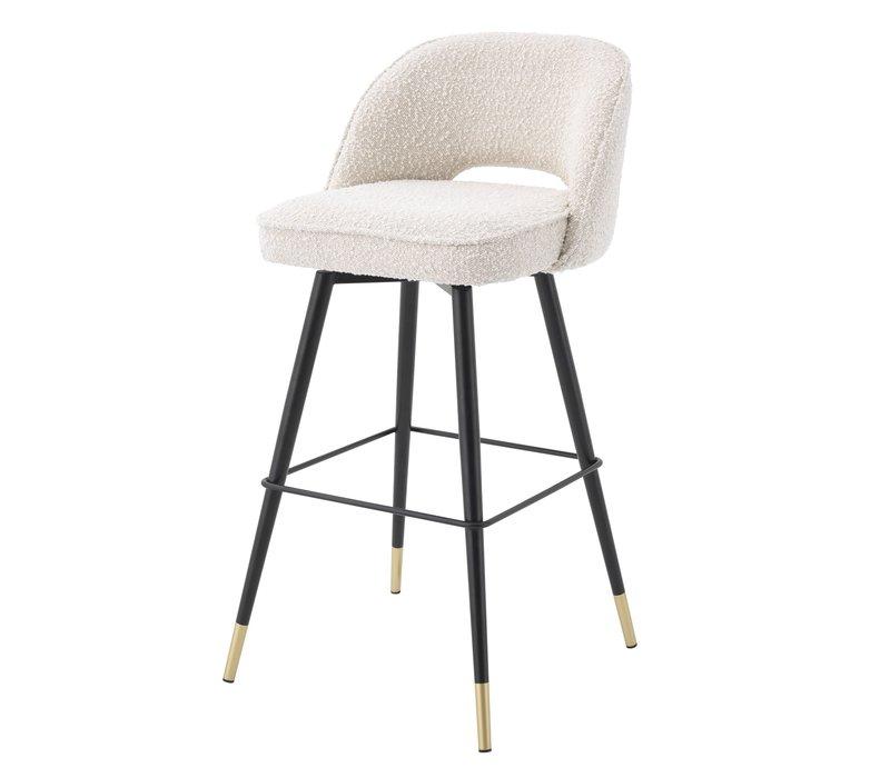 Bar stool 'Cliff' set of 2 - Bouclé cream