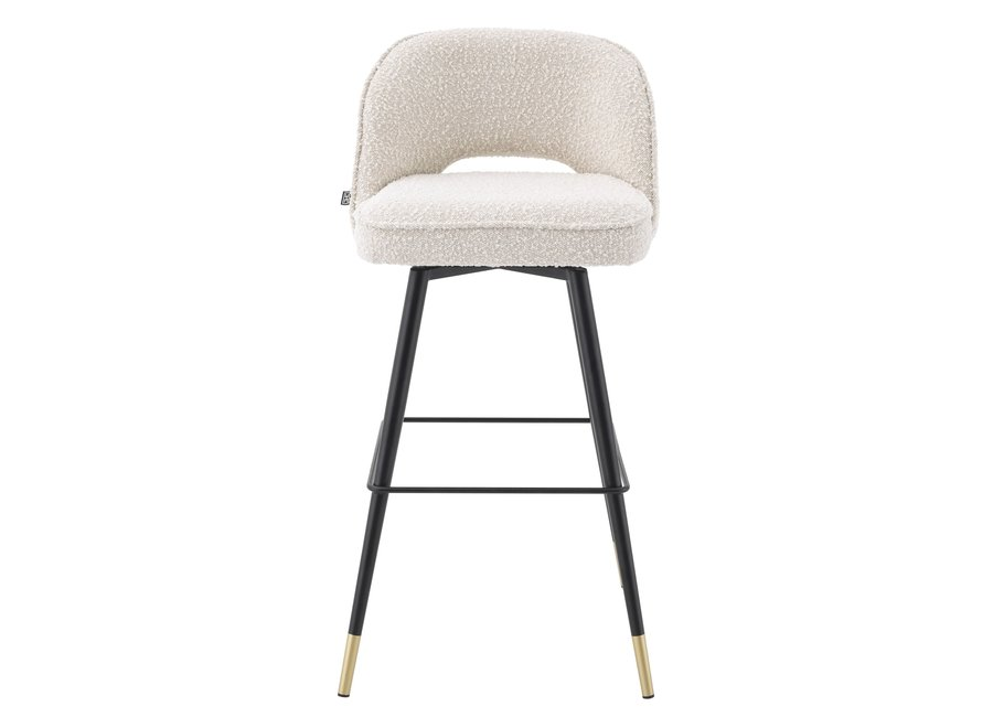 Bar stoel 'Cliff' set van 2 - Bouclé cream