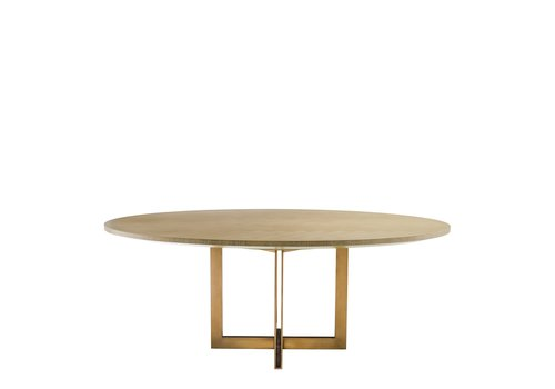 EICHHOLTZ Dining table Melchior oval 'White washed oak'