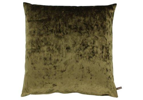 CLAUDI Cushion Pias Dark Olive