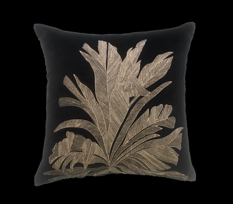 Throw pillow Savannah Palm Black / Beige