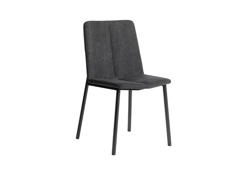 MUUBS Eetkamerstoel 'Chamfer' Anthracite