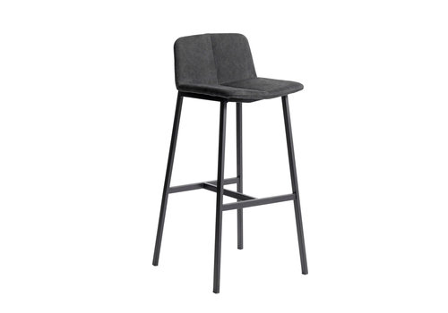 MUUBS Bar stool 'Chamfer' Anthracite - 75cm