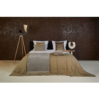 Bedspread Maia Stitched in the color Taupe