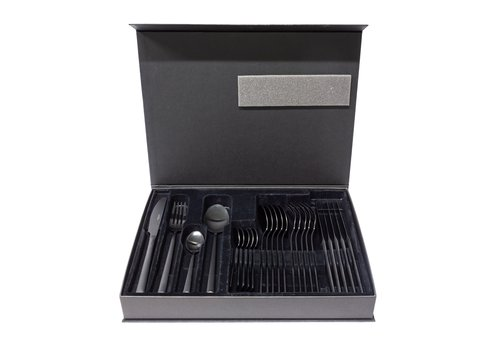 Dome Deco Cutlery set 6-piece - Black