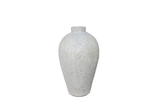 Dome Deco Terracotta vaas 'White' - M