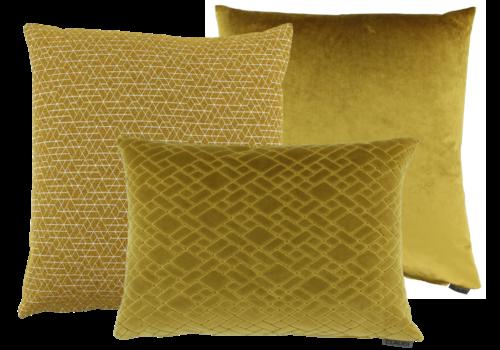 CLAUDI Kussencombinatie Mustard: Juna, Paulina & Assane
