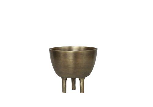 Dome Deco Schaal Aluminium - Bronze - S