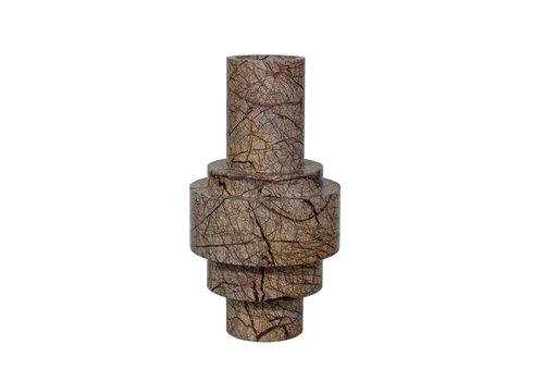 Dome Deco Vase Marble - Brown