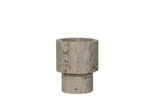 Dome Deco Vase Marble - Cream - S